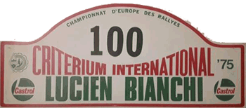 "Critérium International ""Lucien Bianchi"" 10-11 Mai 1975"